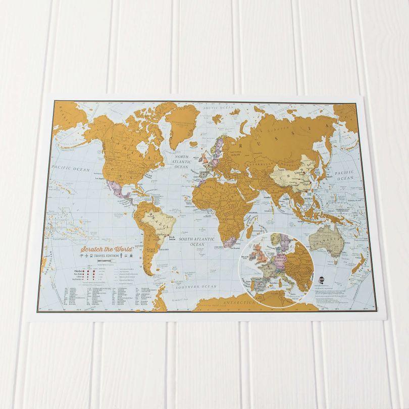 Scratch the World® travel edition map print (Silk Art Paper)