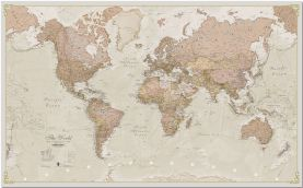 Small Antique World Map (Pinboard)