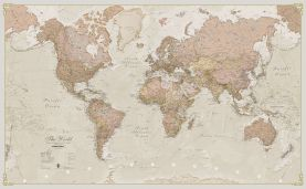 Medium Antique World Map (Laminated)