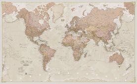 Huge Antique World Map (Paper)