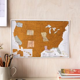 Scratch the USA - Travel edition (Silk Art Paper)