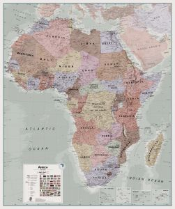 Executive Africa political Wall Map
