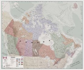 Large Executive Canada Wall Map (Paper)