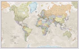 Giant World Map Mural - Classic (Mural)