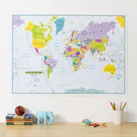 Glow in the Dark Children's World Map
