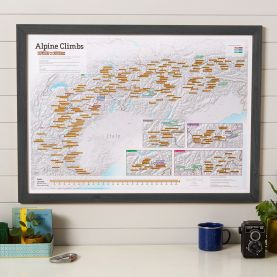 Scratch-Off Alpine Climbs Print