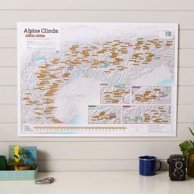 Scratch Off Alpine Climbs Print (Silk Art Paper)