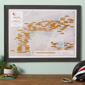 Scratch-Off Alpine Cycling Print