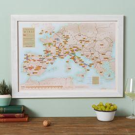 Scratch-Off European Wine Print