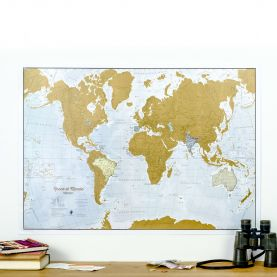 Scratch the World® Spanish language edition map print