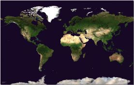 Small Satellite Map of the World (Pinboard)