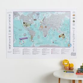 Scratch the World® activity adventure map print