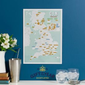 Scratch-Off UK Gin Distilleries Print