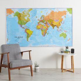 Huge Political World Wall Map (Laminated)