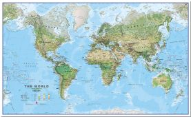 Large World Wall Map Environmental (Pinboard)