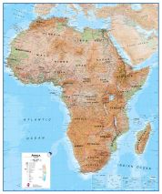 Africa Wall Map Physical