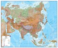 Asia Wall Map Physical