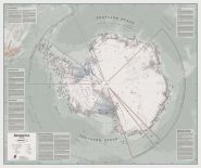 Executive Antarctica Wall Map Political