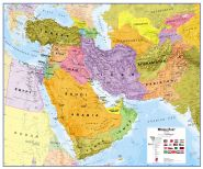 Middle East Wall Map Political