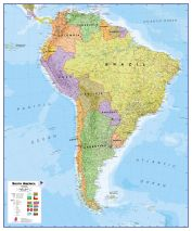 South America Wall Map Political
