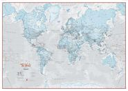 Huge The World Is Art - Wall Map Aqua (Laminated)