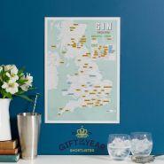 Scratch Off UK Gin Distilleries Print