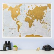 Scratch the World® map print
