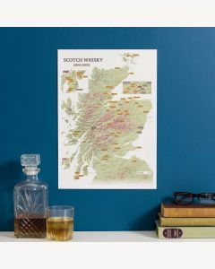 Scratch Off Scotland Whisky Distilleries Print