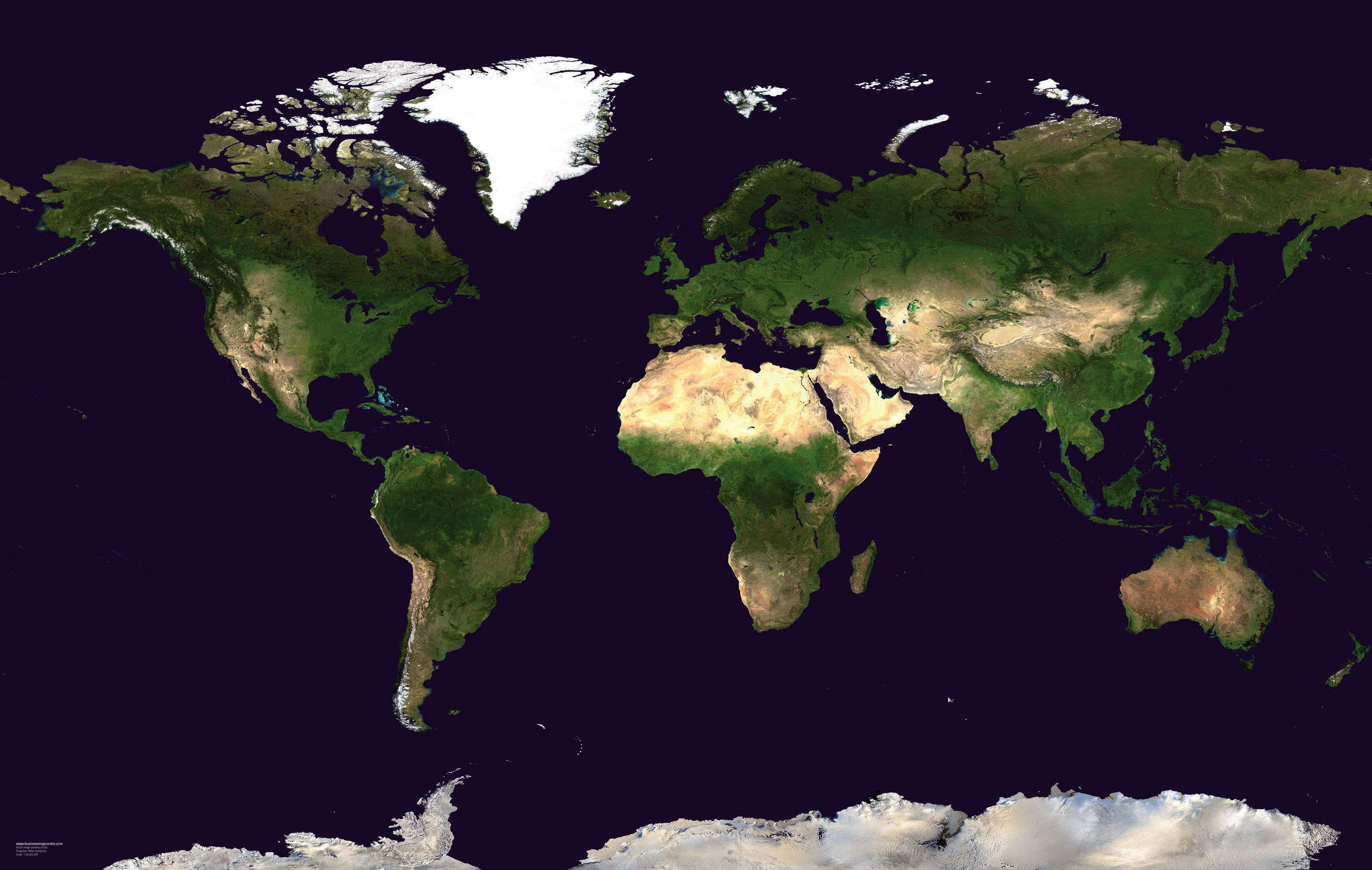 Satellite Map Of The World World Satellite Map