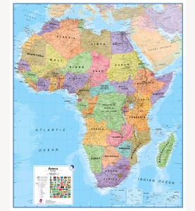 Large Africa Wall Map Political (Paper)
