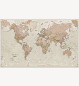 Small Antique World Map (Paper)