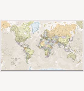 Large Classic World Map (Laminated)