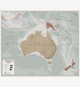 Executive Australasia Wall Map Political
