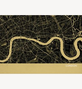 London City Street Map Print Straw