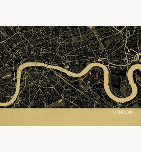 London City Street Map Print Straw