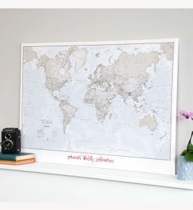 Personalized World Is Art - Wall Map Neutral
