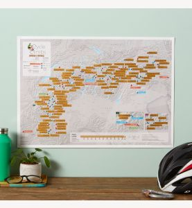 Scratch Off Alpine Cycling Print (Silk Art Paper)
