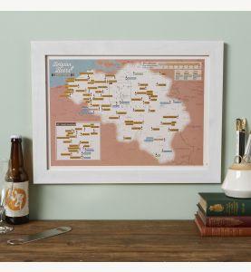 Scratch Off Belgium Beers Print