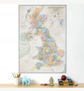 UK Classic Wall Map