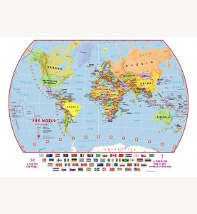 Match The Flags World Map (Laminated)