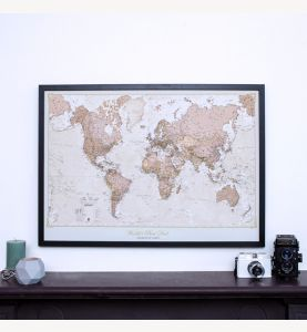 Personalized Antique World Map