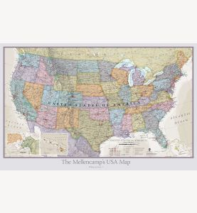 Personalized USA Classic Wall Map