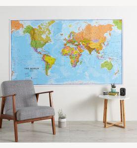 Huge World Wall Map Political (Paper Single Side Lamination)
