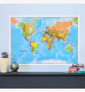 Medium World Wall Map Political (Paper Single Side Lamination)