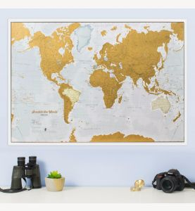 Scratch the World® map print (Silk Art Paper)