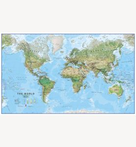 Huge World Wall Map Environmental (Laminated)