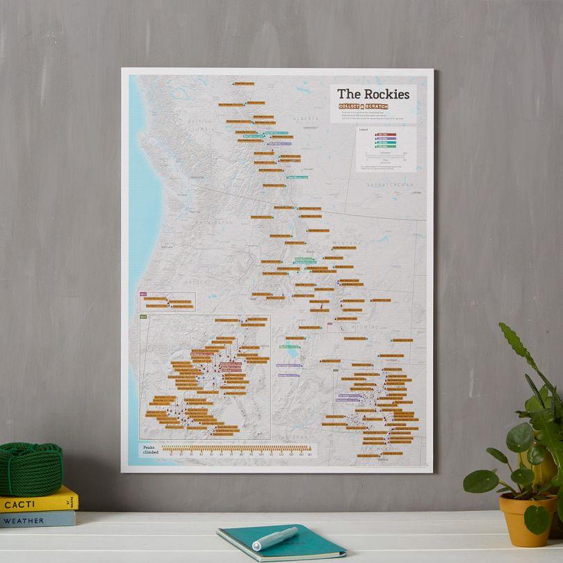 Scratch Off Rocky Mountain Peaks Print