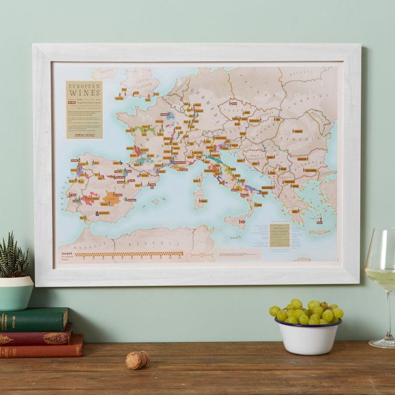 Scratch Off European Wine Print