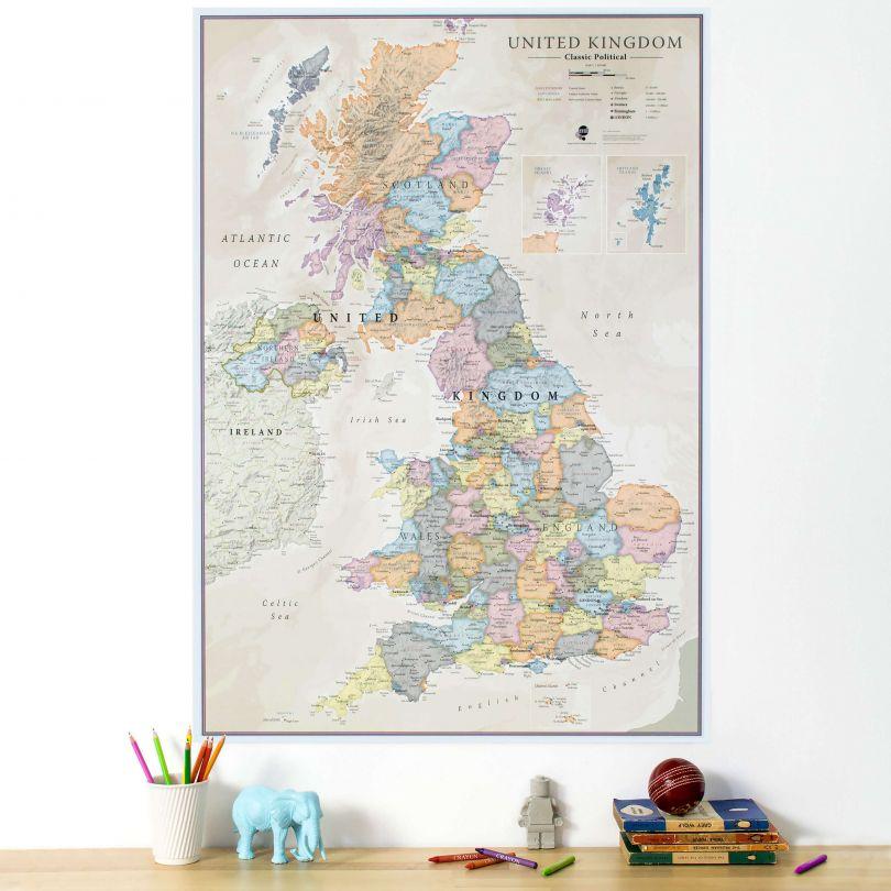 UK Classic Wall Map