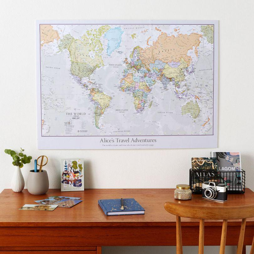 Personalized Classic World Map